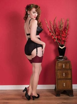 what katie did stockings back seam champagne claret burgundy