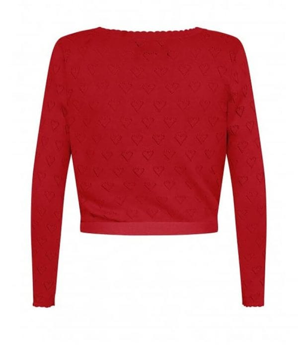 Collectif Darcy Wrap red cardigan
